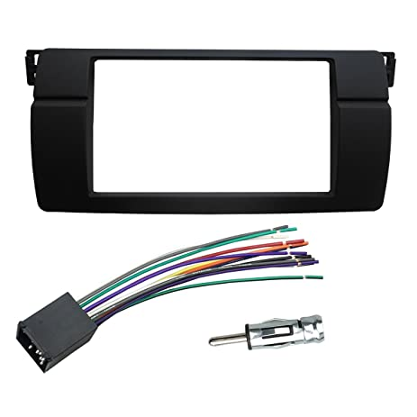 amazon com dkmus dash installation trim kit for bmw 3 series m3 e46 hyundai wiring harness dkmus dash installation trim kit for bmw 3 series m3 e46 facia double din radio stereo