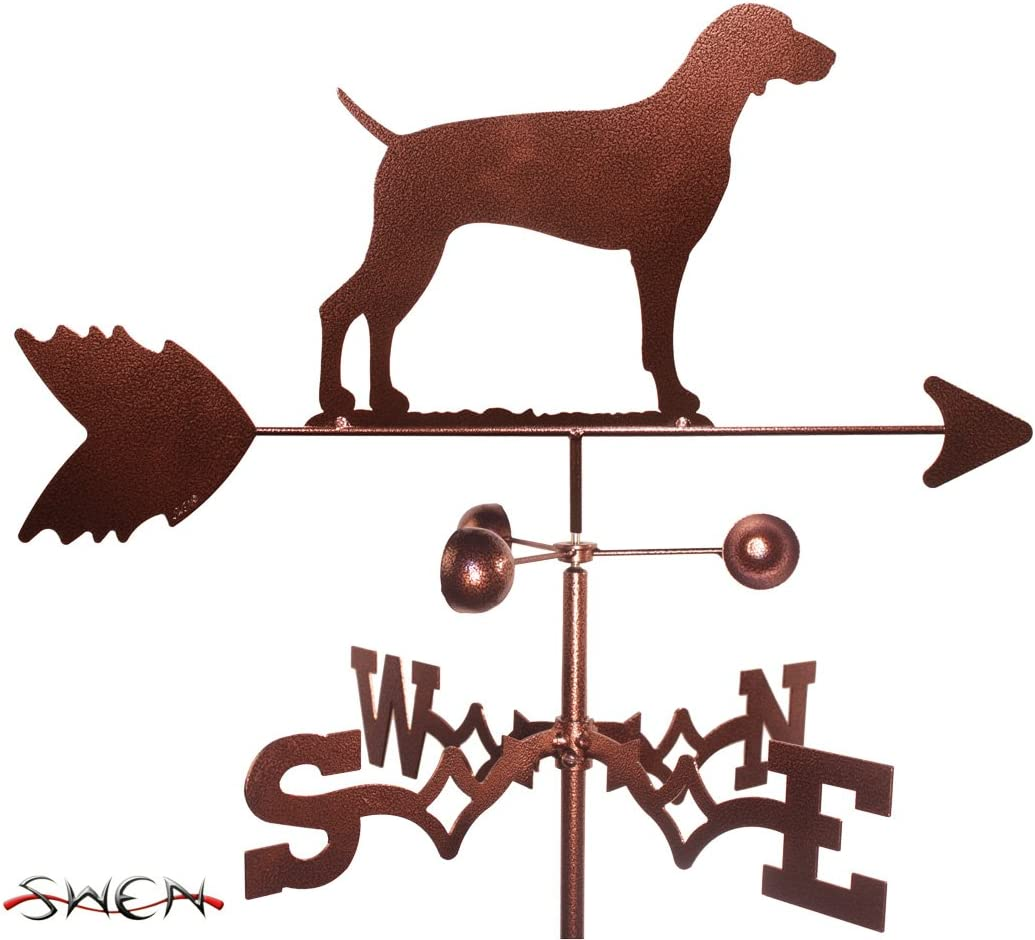 SWEN Products Hand Made Weimaraner Dog Flat Post Mount Weathervane ~New~
