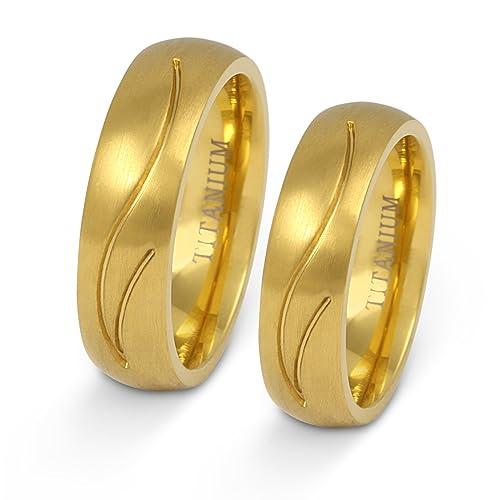 Joyas Codex- alta calidad Juego de anillos de boda para él y ella, pareja anillos con grabado de láser) titanio: Amazon.es: Joyería