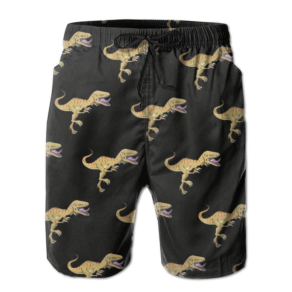 Men's Resultado Dino-Mite Quick-Dry Lightweight Fashion Board Shorts Swim Trunks XL
