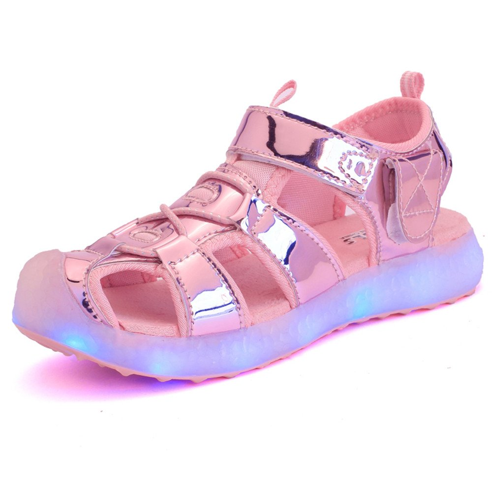 Hanglin Trade Light Up Sandals Shoes Kids USB Charging Flashing LED Sneakers 11 Colors Modes Boys Girls