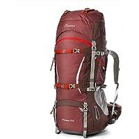 MOUNTAINTOP 70+10Liter/80L Outdoor Erwachsene Wanderrucksäcke Trekkingrucksäck Reiserucksäck mit Regenhülle
