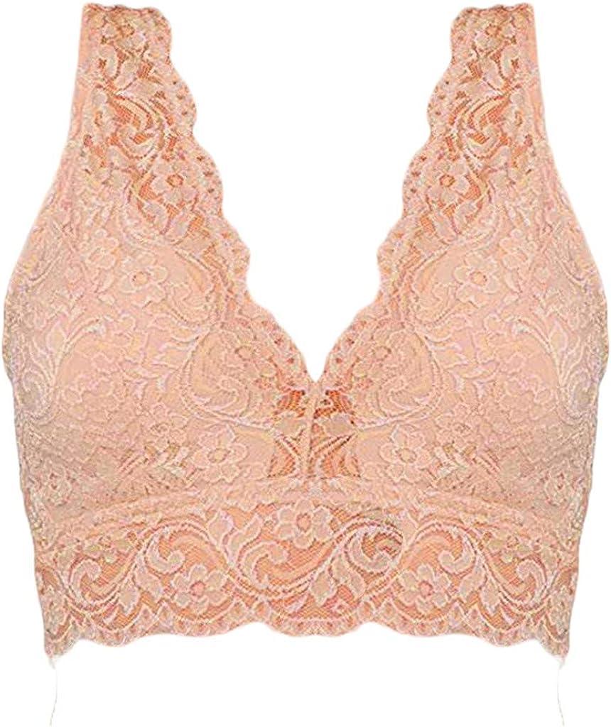 Women Bra Cotton Lingerie Plus Size Bralette Push Up Lace Underwear,D,50 Blue