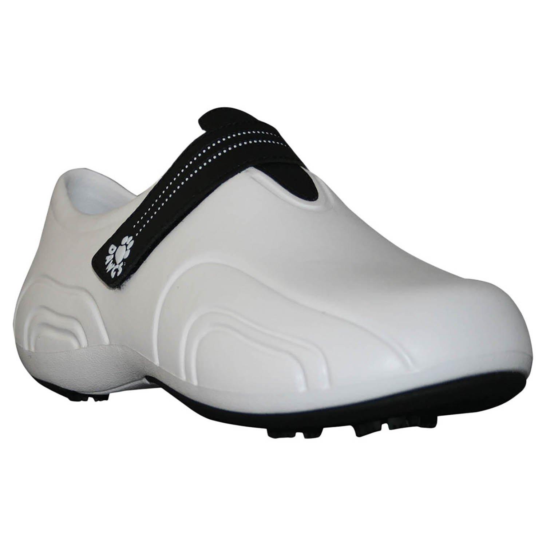 DAWGS Women's Ultralite Golf Walking Shoe,White/Black,7 M US