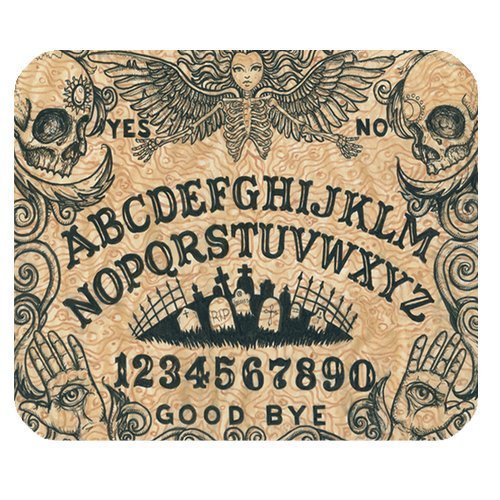 Echonie Generic Personalized Ouija Board Dangerous Game Skull and Graveyard for Rectangle Mouse Pad
