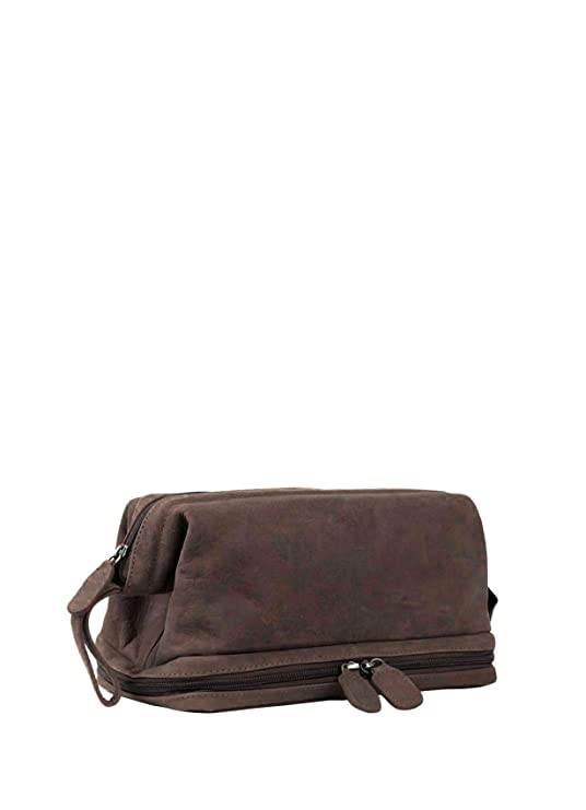 Lakeland Leather Hunter Leather Wash Bag in Chocolate Brown - Men s  Toiletry Bags  Amazon.co.uk  Luggage 29068dbfe999a