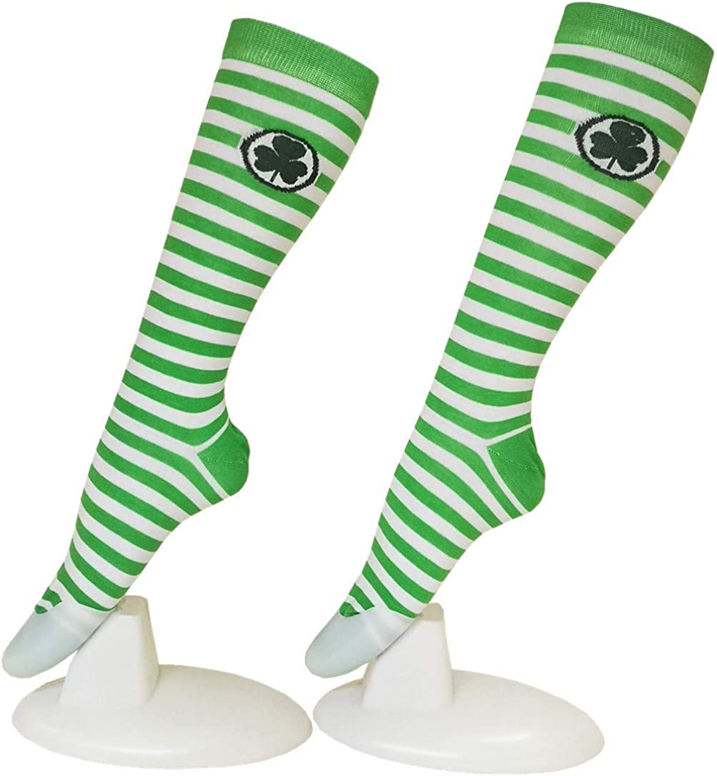 Patricks Day Thigh High Stocking Knee Socks CHANGGER St Lucky Shamrock For Irish Ireland Green Lucky Gifts For Women