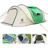 GEERTOP(ギアトップ)ポップアップ テント ワンタッチ 3-5人用 大型 サンシェードテントビーチ キャンプ アウトドア用 簡単設置 ファミリー 家族 旅行