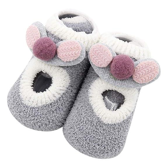 Amphia Calcetines antideslizantes del paso del bebé de las medias de los oídos de los niños del bebé de los Dcién nacidos de las muchachas de los bebés de ...