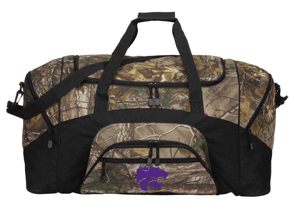 8c251120978 Amazon.com   Broad Bay Large Realtree Camo Kansas State Duffel Bag Or Camo K -State Gym Bag   Sports   Outdoors