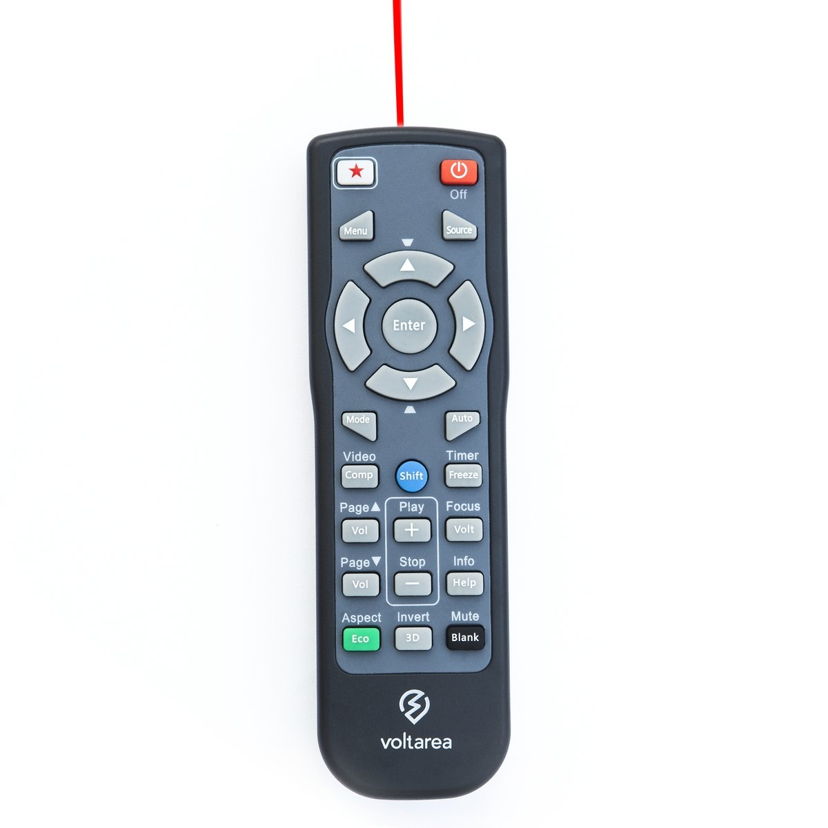 Remote Control for NEC VT460 Projector with Laser Pointer Voltarea VLTR48479