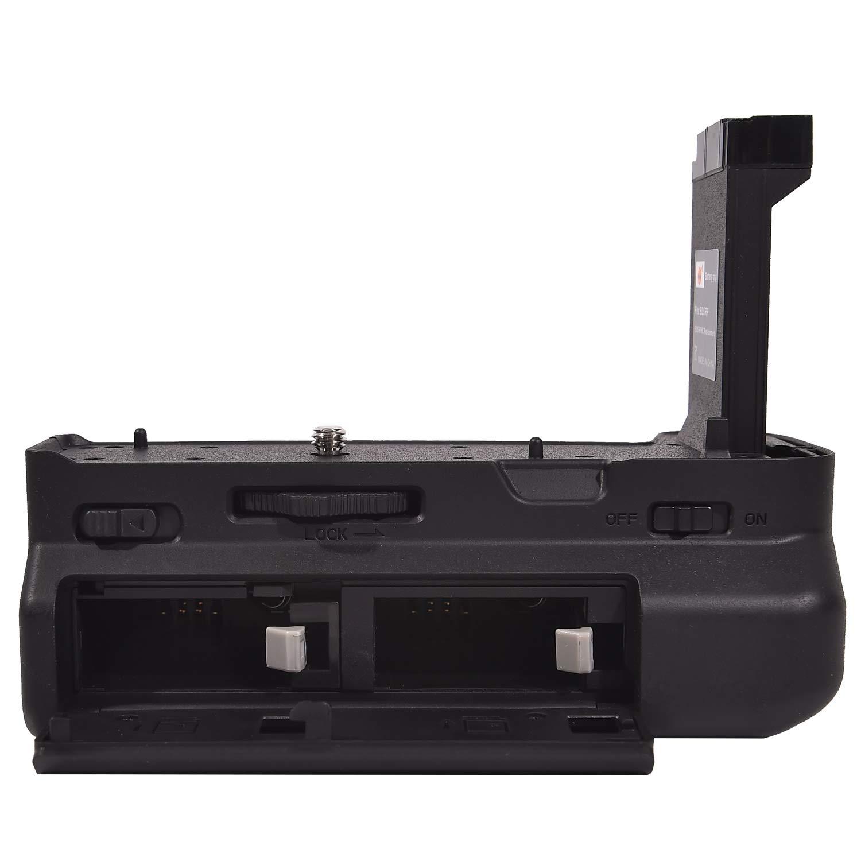 2X Li-Ion LP-E17 Bater/ía DSTE/® Vertical Empu/ñadura de bater/ía f/ür/EOS RP Kamera Mando a Distancia por Infrarrojos USB Dual Cargador