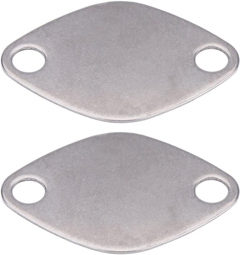 2 piezas 8mm junta para válvula egr, Ensamblaje de juntas de placas de bloque de obturación