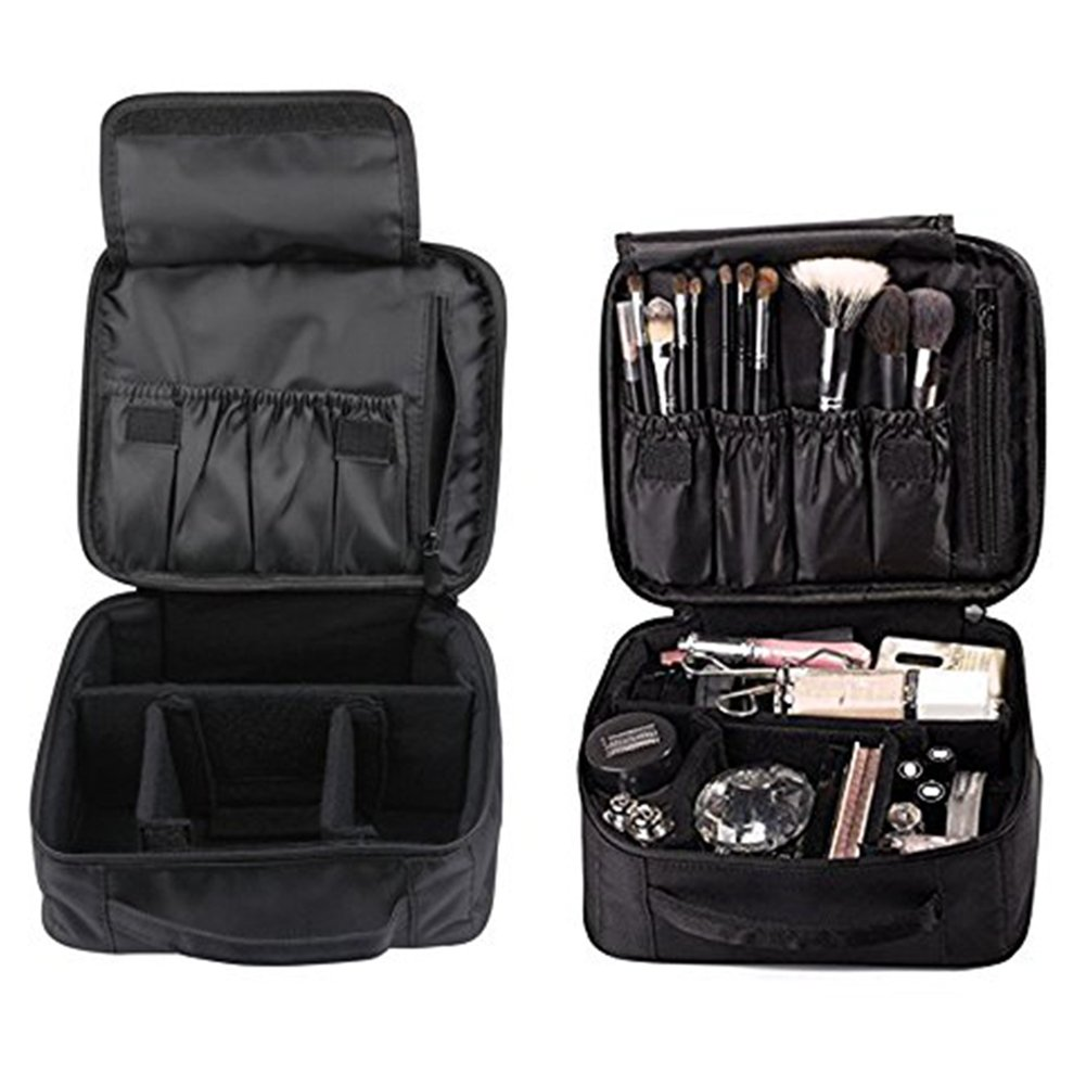Imcolorful Makeup Organizer Bag Hard Travel Case Caboodles Cosmetic Organizer Partable Waterproof Train Case 9.8 inch Medium