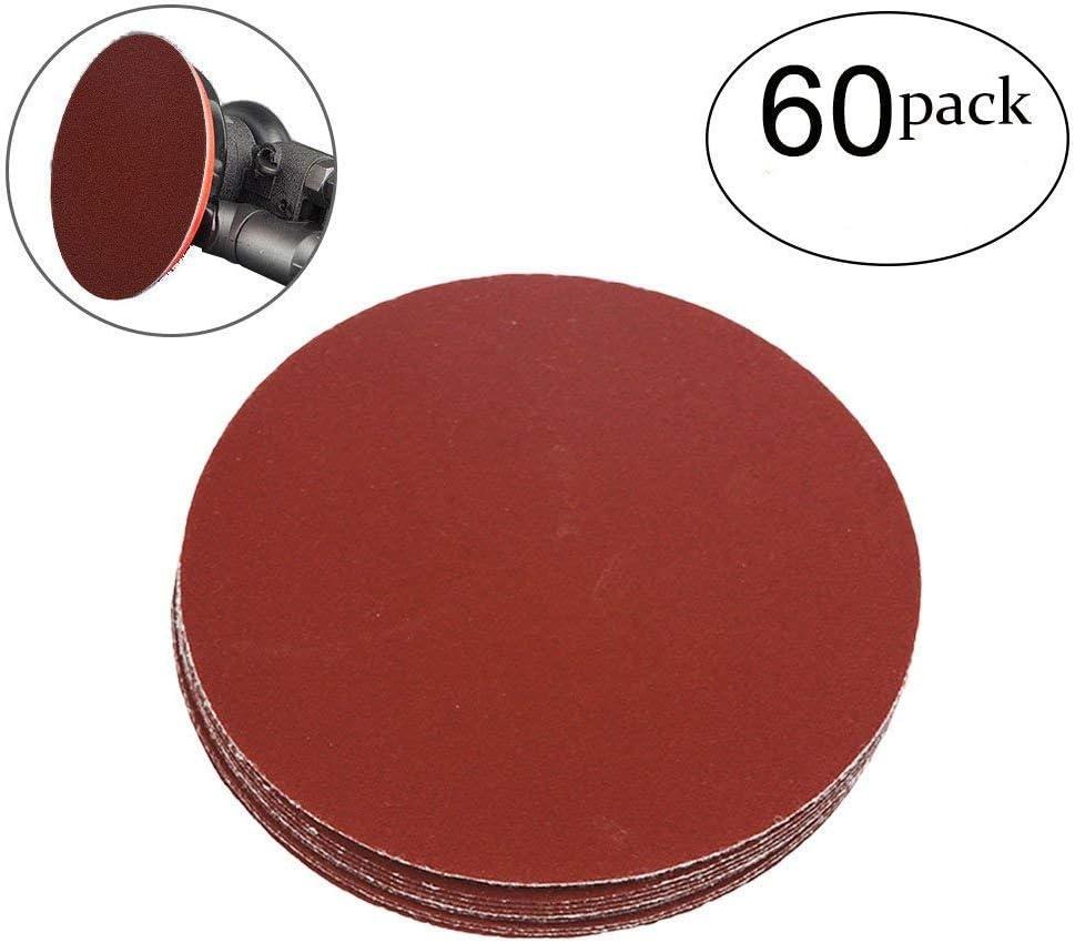 5-Inch PSA Sanding Disc Aluminum Oxide Adhesive Back Sandpaper 320 Grit 30 Pcs