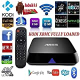 PGK Smart Android TV Box Amlogic S812 Quad Core with Fully Loaded Kodi 16.0 2G/8G Dual band Wifi Bluetooth Support 4K XBMC Full HD Media Streaming Player for TV