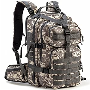Gelindo Military Tactical Backpack, Hydration Backpack, Army Molle Bug-Out Bag, Small Rucksack for Hunting, Survival, Camping, Trekking, School, 35L