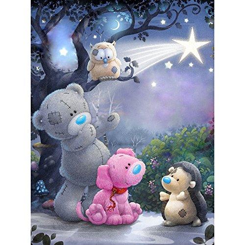 5D DIY diamond embroidery cartoon bear diamond painting Cross Stitch full drill Rhinestone mosaic child gift