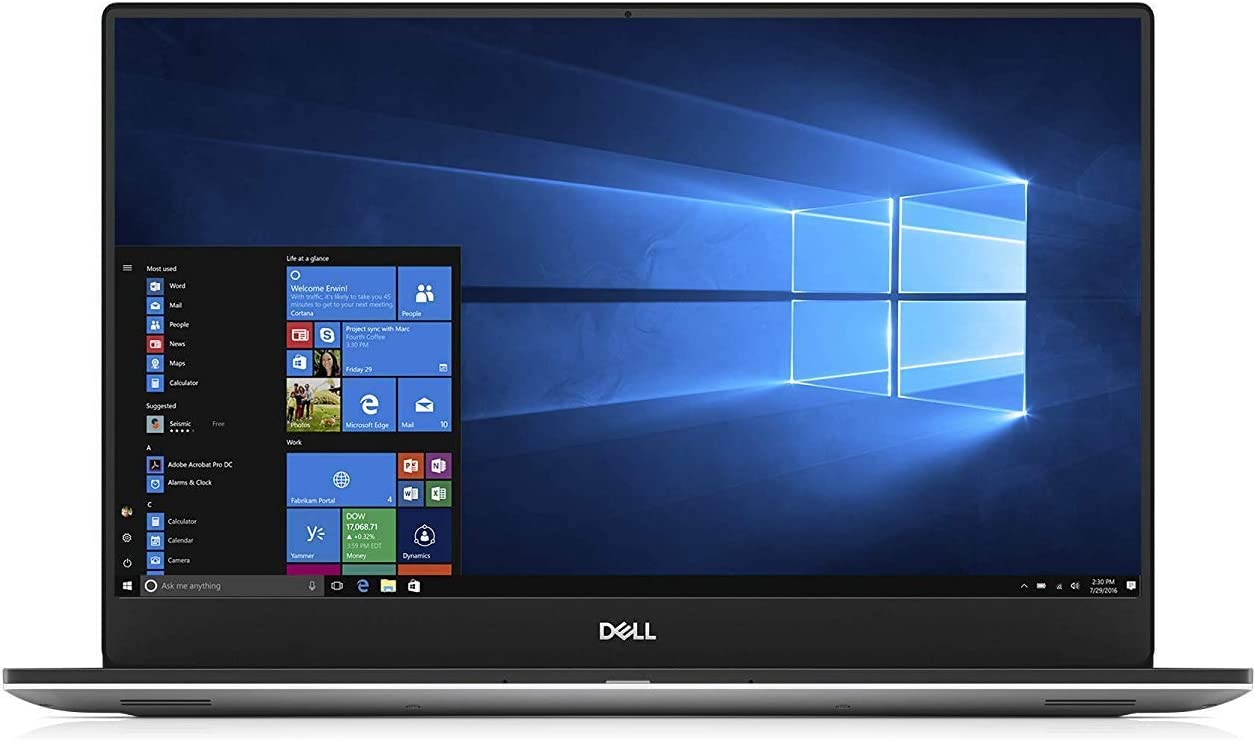 "Dell XPS 15 7590 Laptop: Core i5-9300H, 256GB SSD, 8GB RAM, 15.6"" Full HD IPS 500-nits Display, Backlit Keyboard (Renewed)"