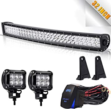 DOT 2pcs 3x3 Inch Pods Cube Led Work Lights Driving Fog Lamps On Roof Windshield Bumper With Mount Mounting Bracket Kits Wiring Harness Remote Control For Polaris RZR XP1000