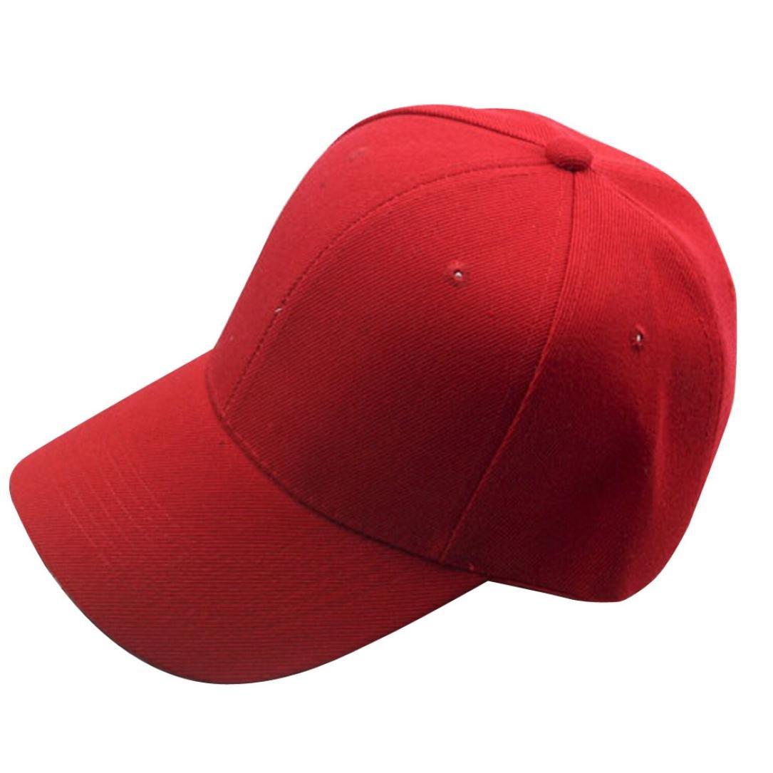 ❤️Amlaiworld Gorra de béisbol de Hombre mujer Sombrero plano de hip hop Snapback Niños niñas Viseras (Rojo): Amazon.es: Deportes y aire libre