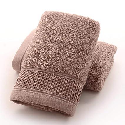 SYXLTSH Toalla de baño algodón Nido de Abeja Conjunto Infantil Absorbente Adulto Suave marrón