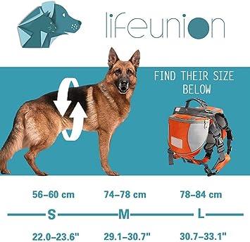 Lifeunion Adjustable Service Dog Supply Backpack Saddle Bag for Camping Hiking Training