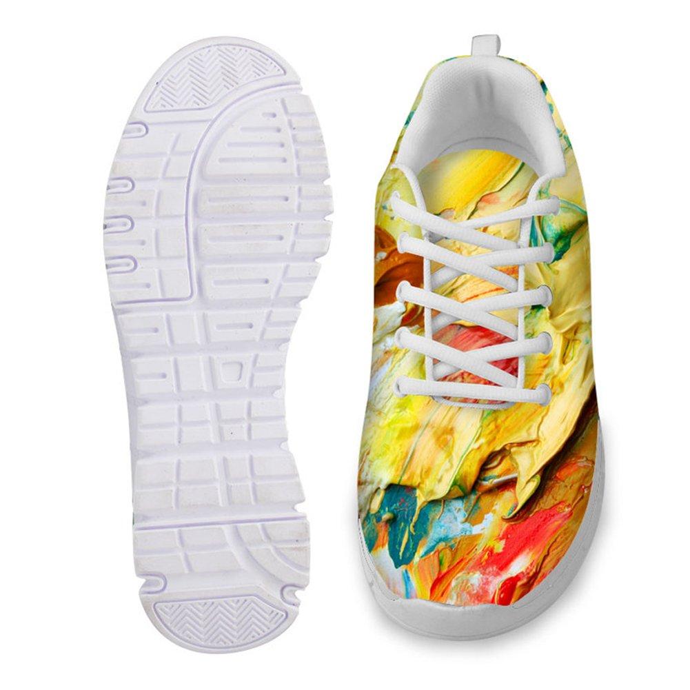 Showudesigns Graffiti Design Womens Fashion Sneakers Lightweight Running Shoes