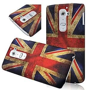 Seedan LG G2 Case - UK Flag Painted PC Hard Shell Back Cover Skin Protector