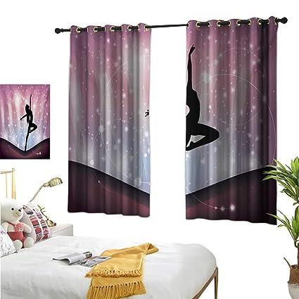 Amazon.com: Contemporary Drapes for Living Room Silhouette ...