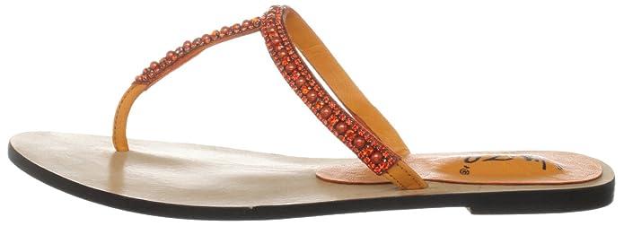 Unze L18342W, Chaussures basses femme - Orange (L18342W), 38 EUUnze