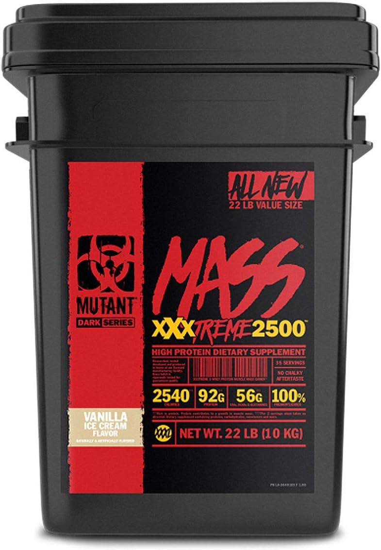 Mutant Mass Xxxtreme 2500 Vanilla Ice Cream, Pack de 1