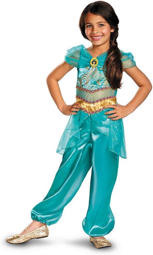 Disney Princesa Jasmine Disfraz de Aladdin Talla M=116 – 128 ...