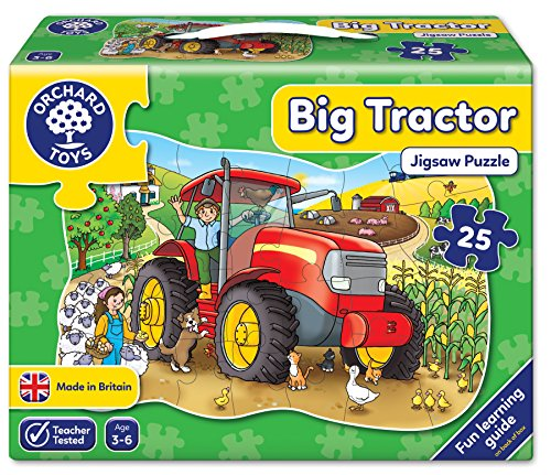 (Big Tractor Shaped Floor Puzzle )