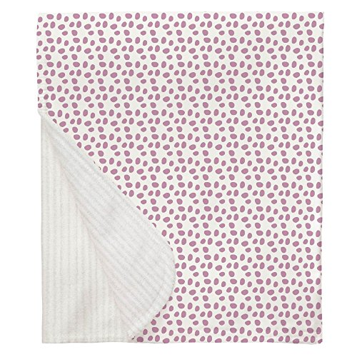Carousel Designs Amethyst Pebbles Crib Blanket (Amethyst Pebble)
