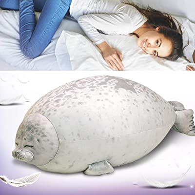 Creatsnow Yoruii Chubby Cute Blob Seal Pillow Stuffed Cotton Plush Animal Toy Cute Ocean Soft Pillow Pets Plush Toy Medium(17.3inch) B: Kitchen & Dining