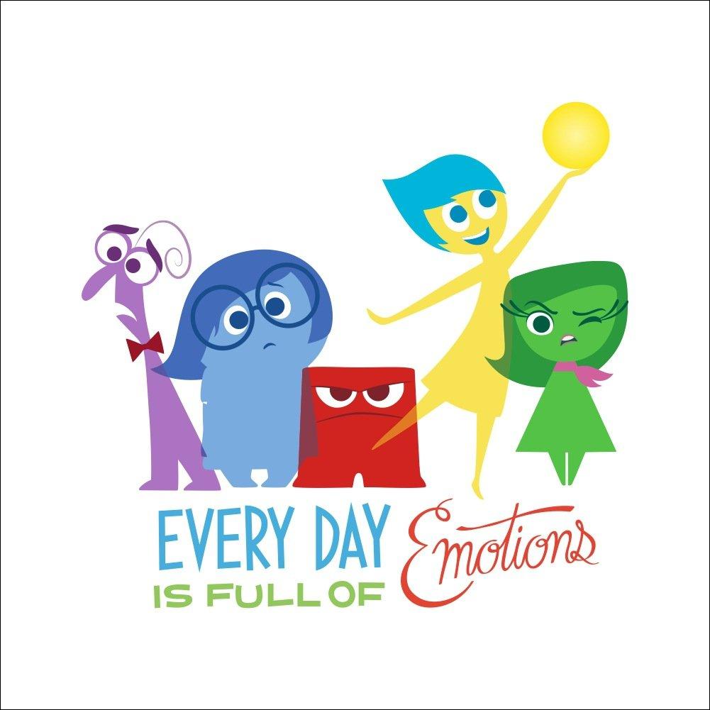Fangeplus(TM) DIY Removable Pixar Inside Out Everyday Is Full of Emotions Art Mural Vinyl Waterproof Wall Stickers Kids Room Decor Nursery Decal Sticker Wallpaper 16.9''x15.7''