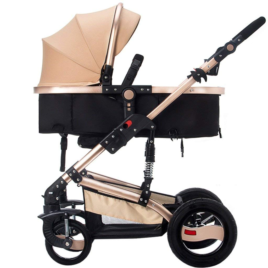 16-Thundertechs Baby Carriage-Baby Trolley C SitLie Shock-Proof Non-Inflatable Explosion-Proof Rubber Wheel Foldable Two-Way Push Rod Multifunction Trolley Full Sunshade Awning ti-Uv Sun Protection Ba
