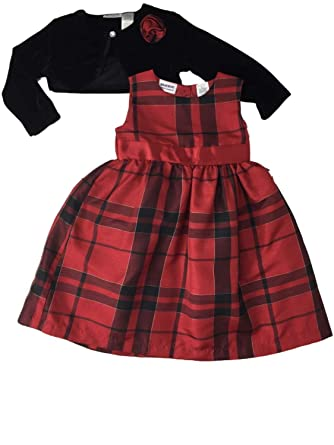 8e0b8ea14d1 Image Unavailable. Image not available for. Color  Girls Red   Black Plaid  Formal Party Holiday Gold Accent Checkered Dress