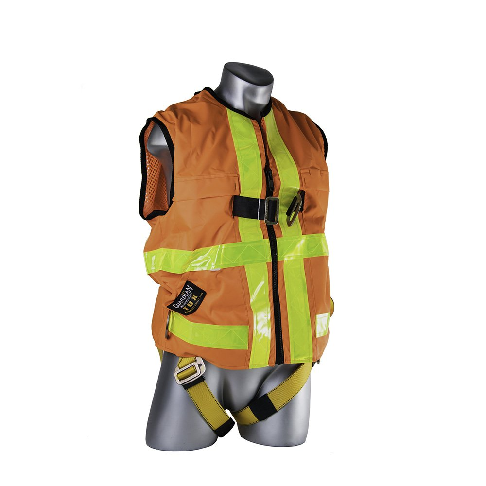 Guardian Fall Protection 02135 HI-VIS Construction Tux Harness, XL