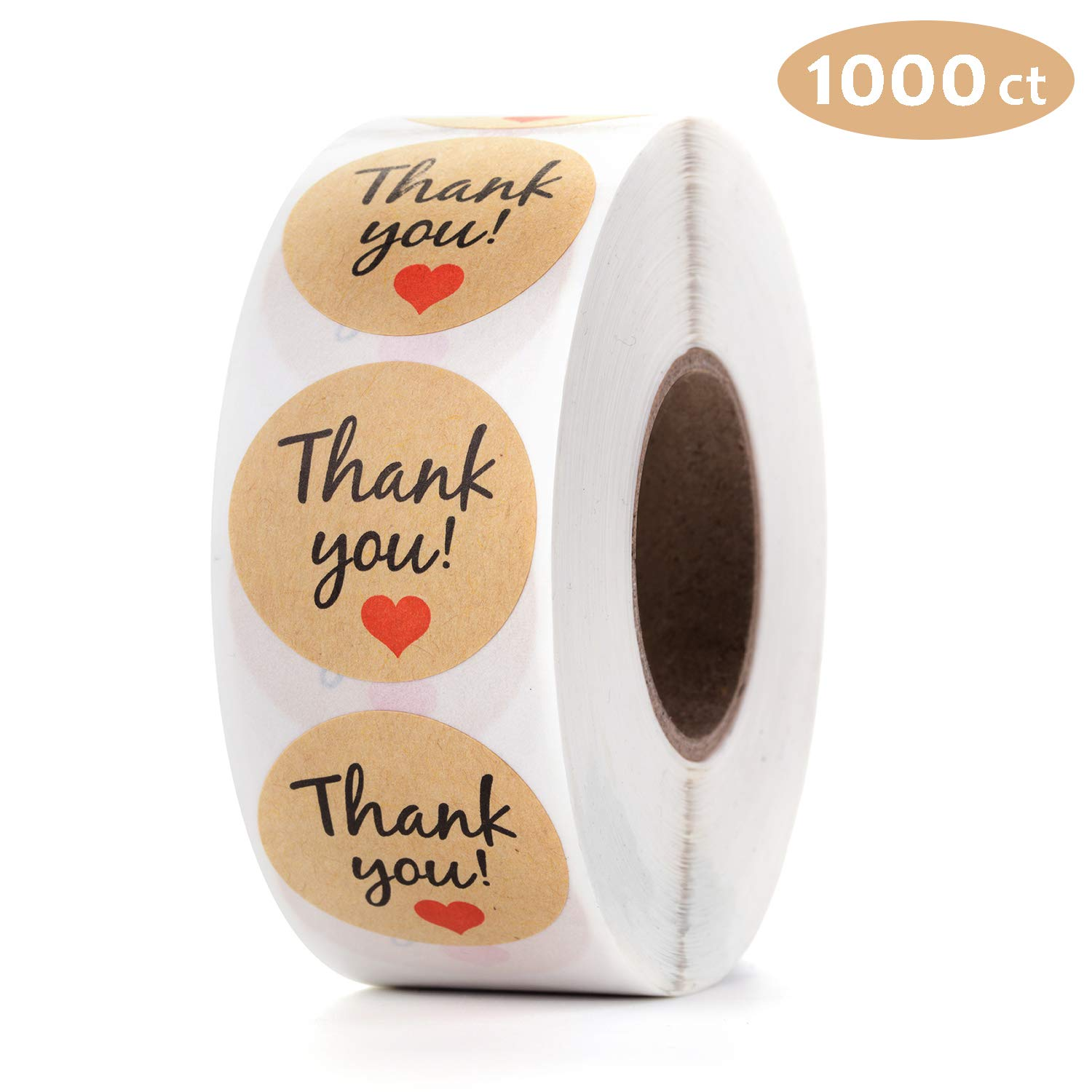 """Gift Wrap Mionno 1.5/"""" Kraft Paper Stickers DIY Project Decoration Craft Jar Canning 1000pcs//Roll Handmade with Love Adhesive Labels for Handmade Baking Cakes Pack Envelope Sealing"""