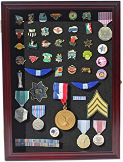 product image for flag connections Collector Medal/Lapel Pin Display Case Holder Cabinet Shadow Box.