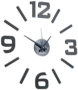 Pearl - Reloj adhesivo: Reloj de pared de diseño de 1 metro XXL para pegar (relojes de pared para el autodiseño): Amazon.es: Hogar