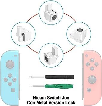 Nicam 4x Cerraduras metálicas izquierda / derecha para NS Nintendo Switch Controlador Joy-Con Reparar: Amazon.es: Videojuegos