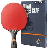 STIGA Royal Three Star WRB Pala de Tenis de Mesa, Unisex-Adult, Black/Red, One Size