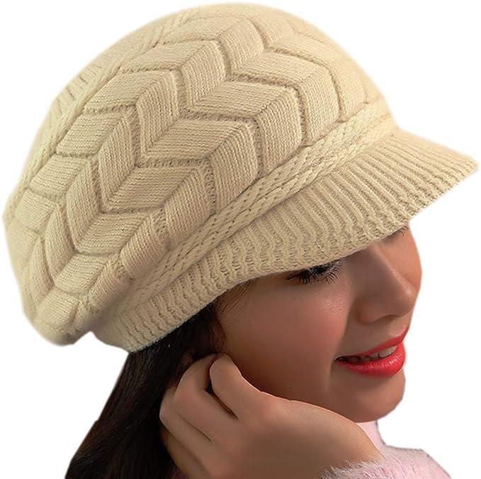 Sombrero Invierno Gorros de Punto Gorras para Mujeres Crochet ...