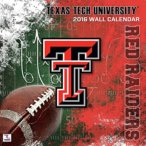 "Turner Texas Tech Red Raiders 2016 Team Wall Calendar, Sept. 2015-December 2016, 12 x 12"" (8011822)"