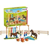 Schleich Farm World Pony Agility Training 41-piece Educational Playset for Kids Ages 3-8