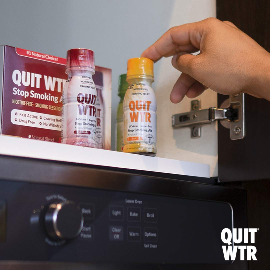 Quit Smoking Aid, Natural Smoking Cessation Shot to Help Curb Cravings, Overcome The Urge to Smoke and Stop Smoking/Safe and Healthy Habit Replacement (Fruit Blend, 36 Pack / 4 Week Supply)