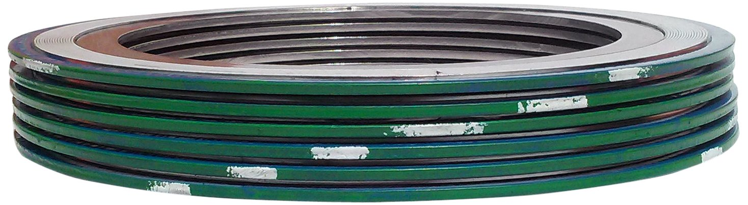 Sterling Seal /& Supply SSS 9000IR1500316PTFE600X6 Green Band with White Stripe 316SS//PTFE Spiral Wound Gasket with 316SS Inner Ring 1.75 ID 3.75 OD Pack of 6 for 1-1//2 Pipe Size 1.75 ID 3.75 OD Sur-Seal -150 to 500 degrees F Temperature Range